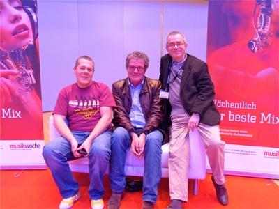 Kritik im Dreierpack: Fuchs, Haver und Gillig-Degrave auf der Musikmesse in Frankfurt (v. l.). | Foto: Wolfgang Weyand